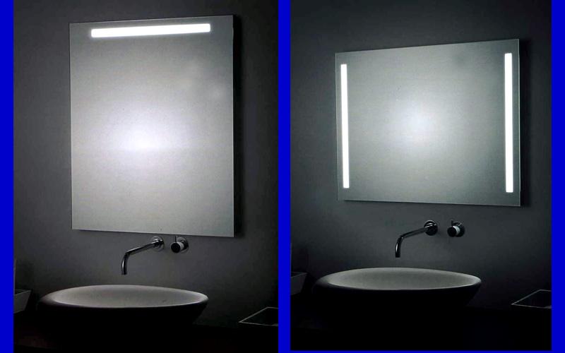Badspiegel variabel in Höhe und Breite