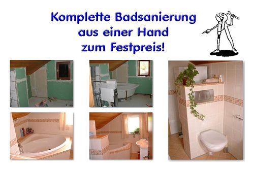 Badsanierung und Badrenovierung