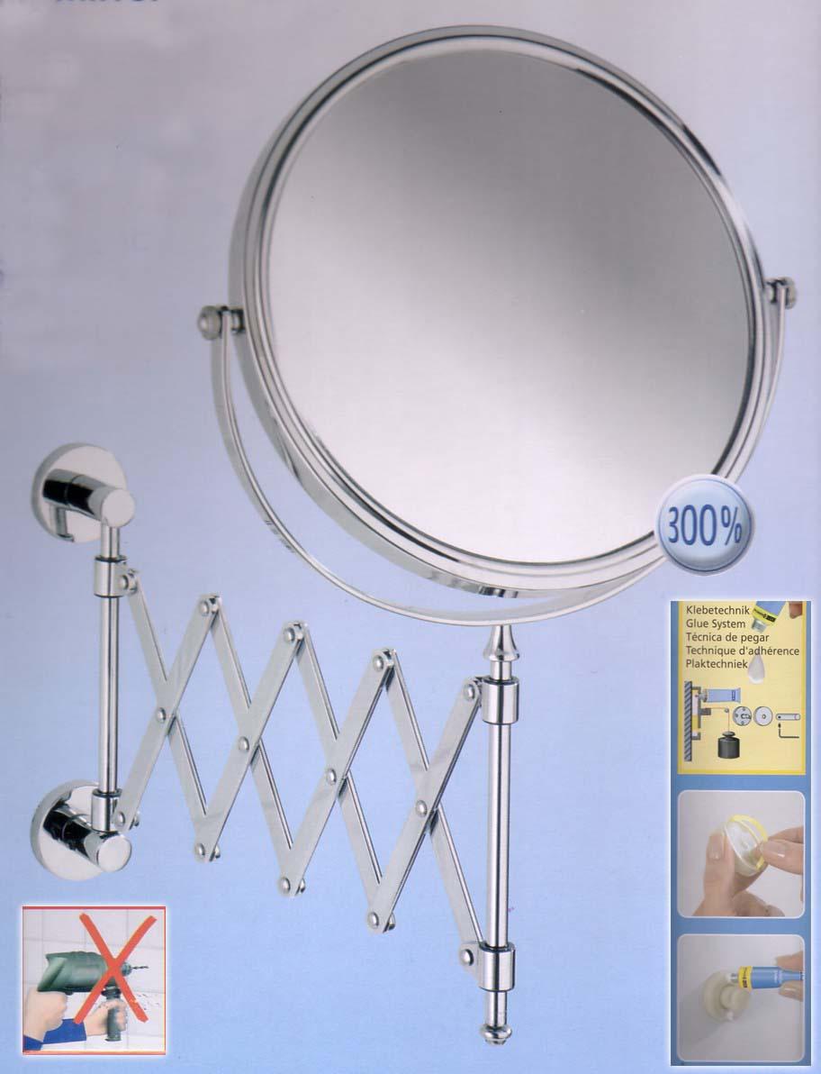 Kosmetikspiegel am Scherenarm mit Klebebefestigung, Art.Nr.: 57 858 100