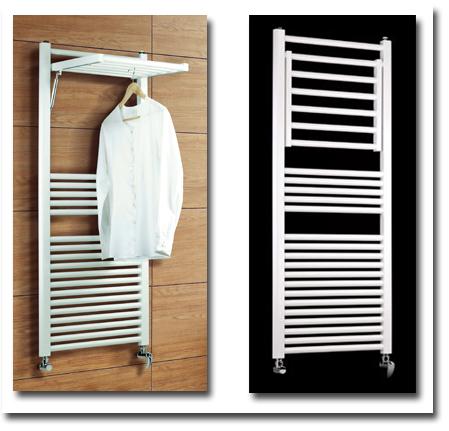 Badheizkörper und Handtuchtrockner, ausklappbar