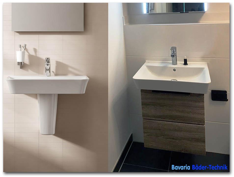 Badmöbel München - Unterschrank für Marken-Waschbecken