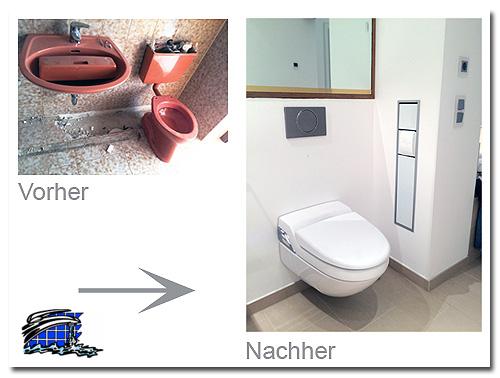 WC wandhängend für die moderne Badgestaltung