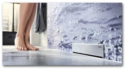 Wandablauf für bodenebene Duschen
