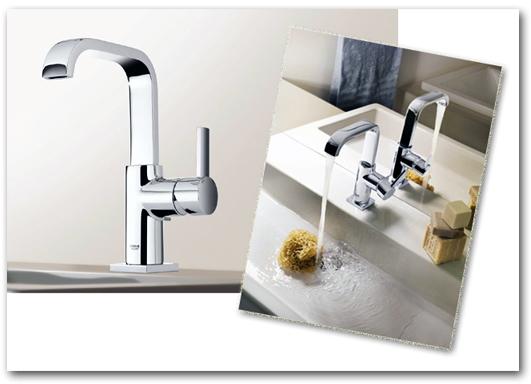 Modernes Design am Waschtisch im Badezimmer