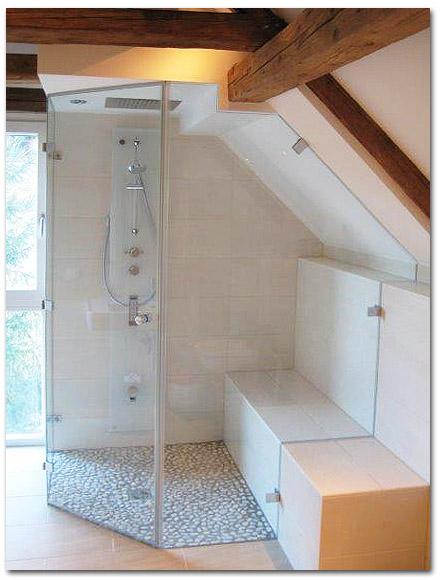 Duschabtrennung, Duschkabine 5-Eck in Massanfertigung