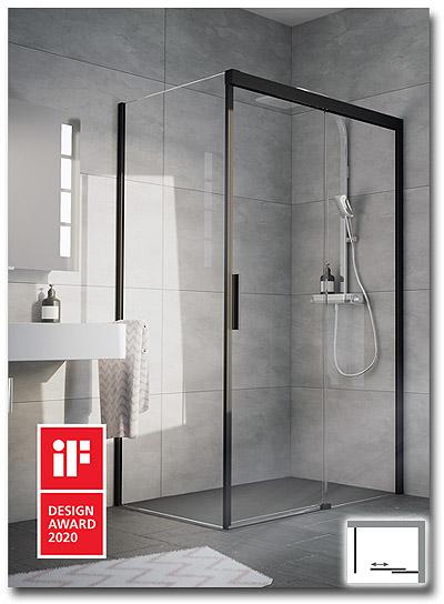 Duschkabine für die Dusche mit Schiebetür