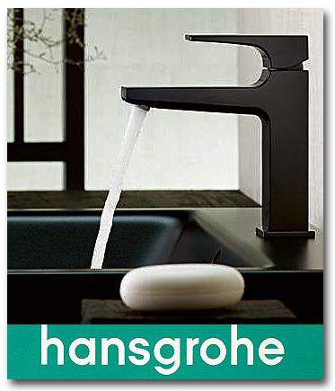 Hansgrohe Wasserhahn mit Finish Plus Oberfläche in matt schwarz oder Brushed Black Chrome