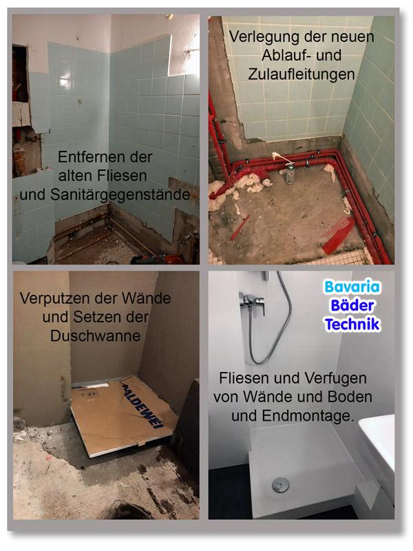 Komplettbadsanierung in München Schwabing