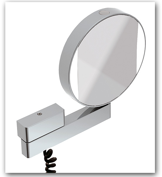 Kosmetikspiegel im modernen Design mit 3-fach und 7-fach Vergrösserung - beleuchtet als Wandspiegel Art.Nr.: 2837 GI
