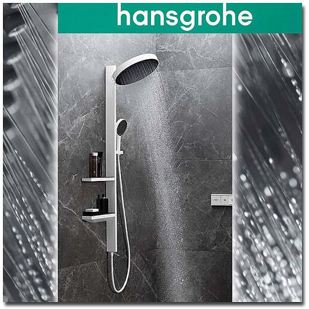 Showerpipe Rainfinity von Hansgrohe in weiss matt