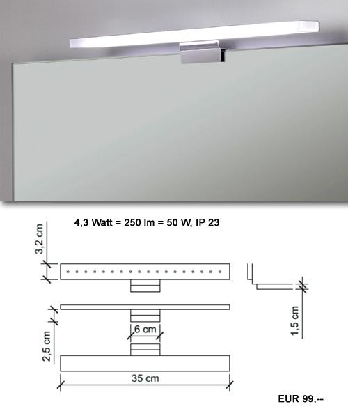 Leuchte für Spiegel im Bad
