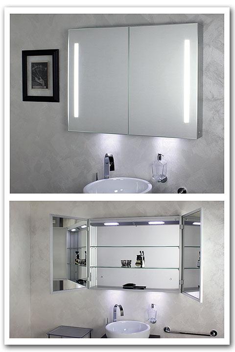 Spiegelschrank für das Bad
