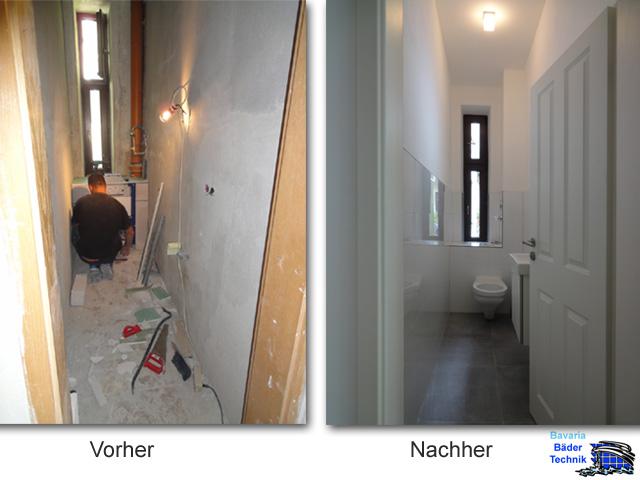 Sanierung eines WC in München