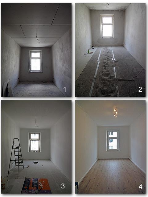 Altbauwohnung renovieren in München - Schlafzimmer